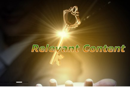 the key is to create relevant content