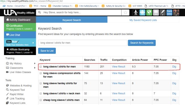 Wealthy Affiliate Search Tool5